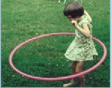 Monica with hula hoop
